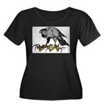Goshawk Women's Plus Size Scoop Neck Dark T-Shirt