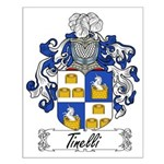 Tinelli Family Crest Small Poster