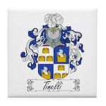 Tinelli Family Crest Tile Coaster