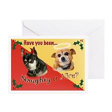 Chihuahua Naughty or Nice Holiday Cards (Pk of 20)