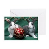 Bunnies with Ornament Christmas Cards (Pk of 20)
