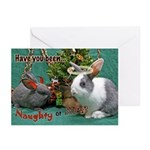 Naughty or Nice Bunny Holiday Cards (Pk of 20)