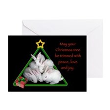 Baby Bunnies Christmas Tree Cards (Pk of 20)