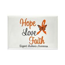 Leukemia Hope Love Faith Rectangle Magnet