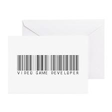 Video Game Dvlpr Barcode Greeting Cards (Pk of 10)