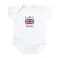 I Call It Home (UK Flag) Infant Bodysuit