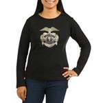 Security Officer Women's Long Sleeve Dark T-Shirt