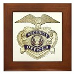 Security Officer Framed Tile