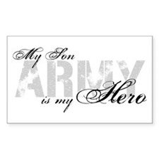 Son is my Hero ARMY Rectangle Decal