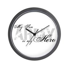 Son is my Hero ARMY Wall Clock