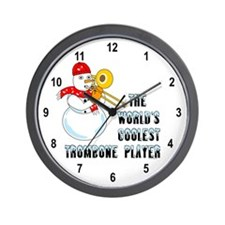 Coolest Trombone Wall Clock