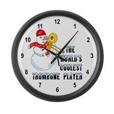Coolest Trombone Large Wall Clock