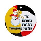 Trombone Round Ornaments