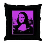 Bright Pop Art Mona Lisa Throw Pillow