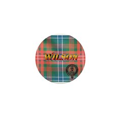 Wilson Tartan & Badge Mini Button