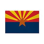 Arizona Flag Rectangle Magnet (100 pack)