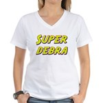 Super debra Women's V-Neck T-Shirt