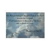 Psalms 7 Rectangle Magnet