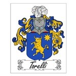 Torelli Family Crest Small Poster