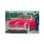 Red Studebaker on Rectangle Magnet (100 pack)