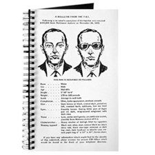 D.B. Cooper Wanted Poster Journal
