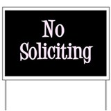 Funny Solicitor Yard Sign
