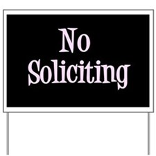 Cute Solicitor Yard Sign