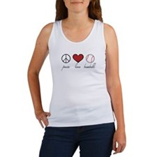 Peace Love Baseball Women's Tank Top