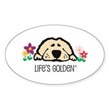 Life's Golden Spring Oval Decal