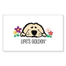 Life's Golden Spring Rectangle Stickers