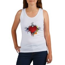 Love Color Splash Women's Tank Top