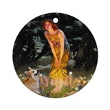 Midsummer's Eve Welsh Corgi Keepsake (Round)