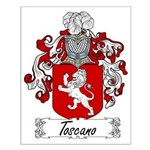Toscano Family Crest Small Poster