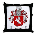 Toscano Family Crest Throw Pillow