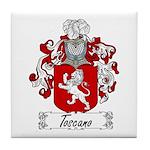 Toscano Family Crest Tile Coaster