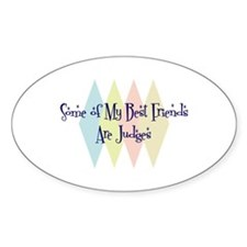 Judges Friends Oval Decal