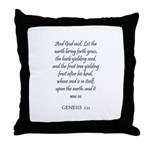 GENESIS  1:11 Throw Pillow