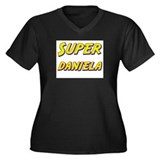 Super daniela Women's Plus Size V-Neck Dark T-Shir