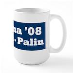 NObama - Blue & White Large Mug