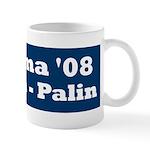 NObama - Blue & White Mug