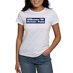 NObama - Blue & White Women's T-Shirt