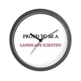 Proud to be a Landscape Scientist Wall Clock