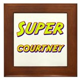 Super courtney Framed Tile