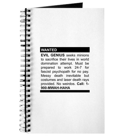 Evil Genius Personal Ad Journal