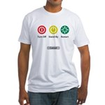 Restart Button Fitted T-Shirt
