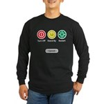 Restart Button Long Sleeve Dark T-Shirt
