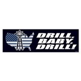 Drill Baby Drill! Bumper Car Sticker