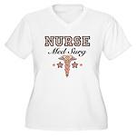 Med Surg Nurse Women's Plus Size V-Neck T-Shirt