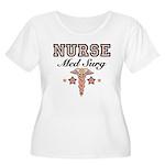 Med Surg Nurse Women's Plus Size Scoop Neck T-Shir