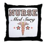 Med Surg Nurse Throw Pillow